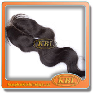 100% Unprocessed Synthetic Grey Hair Clip in Top Lace Closure pictures & photos