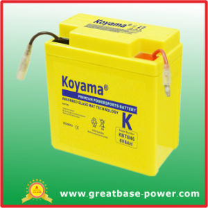 Newest Design American Standard Motorcycle Battery 6V 6ah pictures & photos