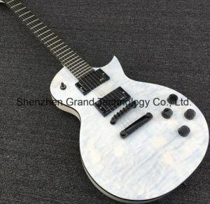 Lp Custom Transparent White 24 Frets Electric Guitar (GLP-204) pictures & photos