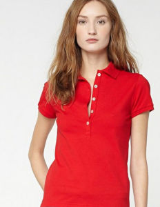 Bulk Customized Top Quality Short Sleeves Plain Collar Lady′s Polo Shirt pictures & photos