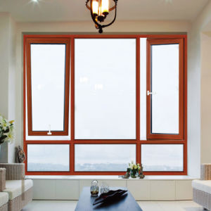 Feelingtop Aluminium Alloy Casement Soundproof White Aluminum Frame Windows (FT-W80) pictures & photos