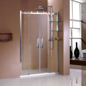 Big Stainless Steel Wheels Sliding Shower Door/Shower Room/Shower Enclosure (HC440-Z)