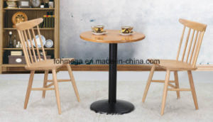 Solid Wood Round Table for Cafe (FOH-BCA19) pictures & photos