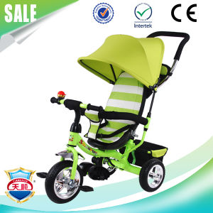 2017 Knit Fabric Canopy New Kids Stroller Tricycle Child Trike pictures & photos