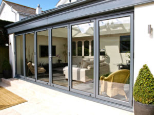 Modern Style Aluminum Bi Folding Door with Double Glass pictures & photos