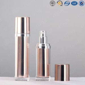 Elegent Luxury Silver High Quality Plastic Acrylic Cosmetic Packaging Cream Lotion Spray Bottle pictures & photos