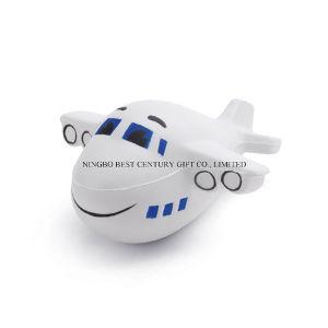 Plane Shape PU Foam Promotional Toy Stress Ball
