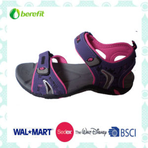 Purple PU Upper, High Quality Sole, Men′s Sporty Sandals pictures & photos