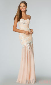 Strapless Long Sleeve Prom Evening Dress (ED14011) pictures & photos