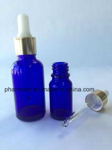 Blue Essential Oil Glass Bottle Dropper Pipette Aluminum Cap for Lavender, Massage Oil pictures & photos