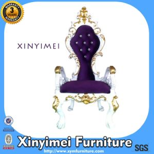 Silver Luxury Royal Throne Chairs for Sale (Xym-H115) pictures & photos