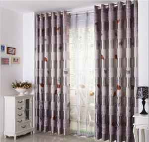 Double-Faced Print Curtain Black -out Cloth Curtain (MM-115) pictures & photos
