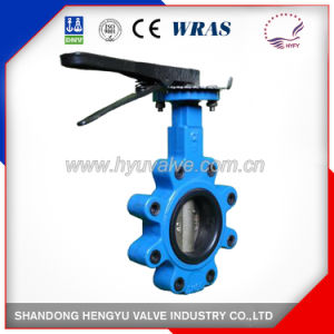 Casting Lug Type Butterfly Valve with Mellable Iron Handlever pictures & photos