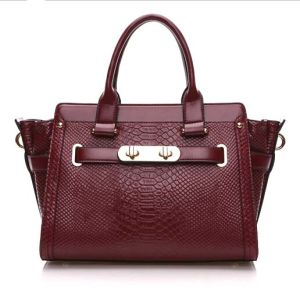 First Layer Leather Handbag Crocodile Shopping Bag Designer Handbag (XZ1025) pictures & photos
