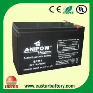Lead Acid Battery 12V 7ah with CE UL ISO9001 ISO14001 Certificated pictures & photos