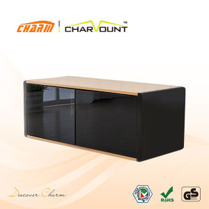 Wooden and Glass Home Furniture LCD/ LED TV Stand Different Color Optional (CT-FTVS-D101) pictures & photos