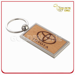 Creative Design Engrave Color Fill Wooden Key Chain pictures & photos