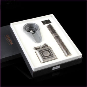 Guevara Classical Mature Cigar 3 in 1 Whole Cigar Accessory Set Include Ashtray, Lighter & Cigar Humidor Pipe Holder (ES-EB-012) pictures & photos