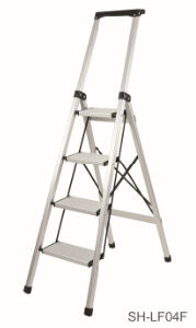 Step Stool Foldable Aluminum Ladder (SH-LF04F) pictures & photos