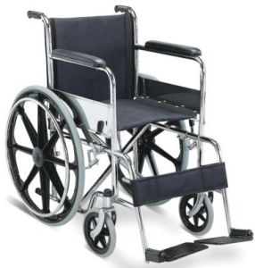 Folding Steel Manual Wheelchair with Chrome Frame pictures & photos