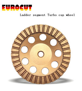 Ladder Segment Turbo Diamond Grinding Cup Wheel