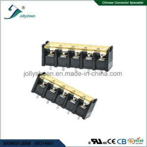 6pin pH6.35mm Barrier Terminal Blocks Straight Type with Clear PC Safety Cover pictures & photos