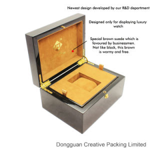 Luxury High Gloss Wooden Single Watch Packaging Box pictures & photos