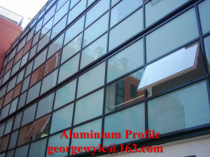 Powder Coated Aluminium Extrusion Profile for Curtain Wall pictures & photos