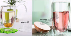New design Hand Made Glass Mug Double Wall Tea Cup for Giftware pictures & photos