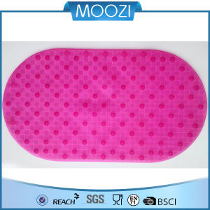 Pink Non-Slip Bathtub Safety PVC Bath Mat with Suction Pads