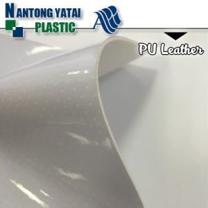 Anti-Yellowing Cheap PU Imitation Leather for Shoes Lining pictures & photos