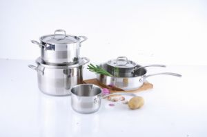 7PCS Stainless Steel Cookware Set with Stainless Steel Hollow Handle pictures & photos