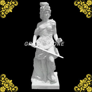 Hunan White Marble Warrior Statue pictures & photos
