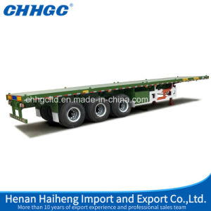 3 Axle Skeletal or Flatbed Transport Container Semi Trailer pictures & photos