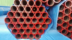 ERW Seamless Steel Pipe with Grooved Painting Red pictures & photos