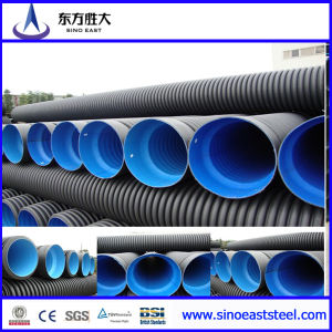 1200mm HDPE Pipe Large Diameter Steel Reinforced Polyethylene Spiral Corrugated Pipe pictures & photos