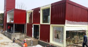 Prefab Container House with Bathroom (Container Cabinet) pictures & photos