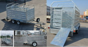 Double Axle Galvanized Livestock Trailers on Sale New Style pictures & photos