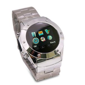 W968 1.5 Inch Touch Screen Stainless Steel Watch Phone with Camera FM Multimedia