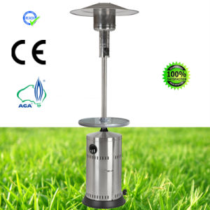 Stainless Steel Patio Heater with Dia. 60cm Tempered Glass Table pictures & photos