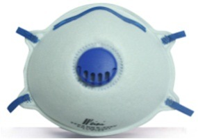 Green Color Dust Mask with Valve and Nose Clip Ce En149 Ffp1 pictures & photos