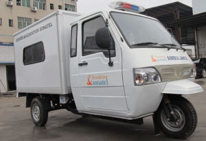 Carry Ice/Cold Drinkhot Selling Van Trcycle/Closed Cabin Cargo Tricycle pictures & photos