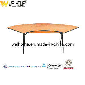 Cheap Wood Folding Table Event Table for Rental pictures & photos