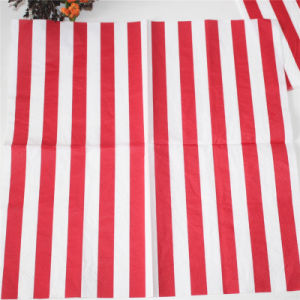 Red Striped Paper Napkin Party Favors pictures & photos