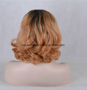 Full Lace Short Burgundy Bong Body Wave Hair Wig pictures & photos