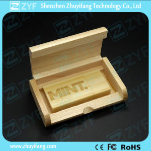 Custom Engraving Logo Real Capacity Maple Wood USB Drive (ZYF1348) pictures & photos