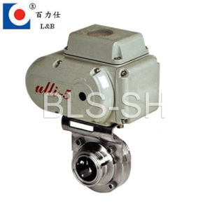 Food Grade Stainless Steel Electric Actuated Butterfly Valve pictures & photos