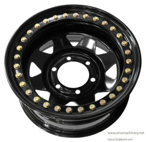 Black Finish 4X4 Offroad One Side Bead Lock Steel Wheel Rim pictures & photos