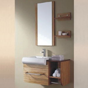 2015 New Design Melamine Bathroom Furniture with Mirror pictures & photos