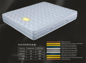 3-Zone Pocket Spring Mattress, Hotel Copressed Packing Mattress Rh013